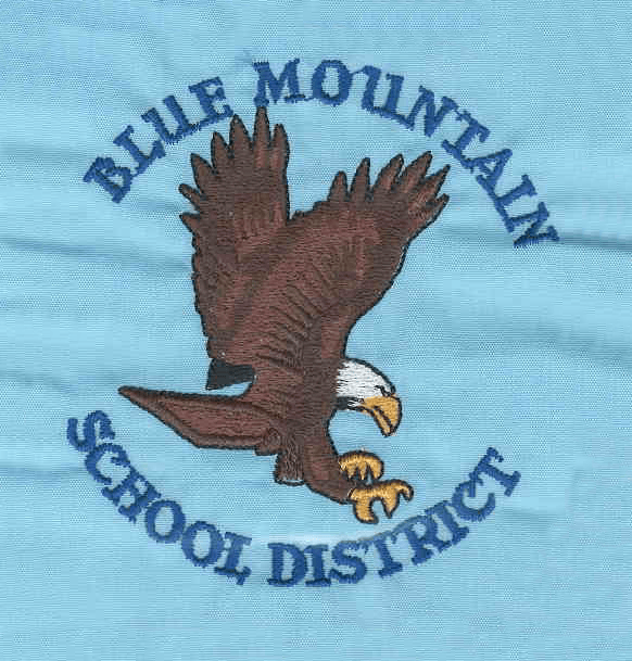 Blue Mountain School District logo embroidered