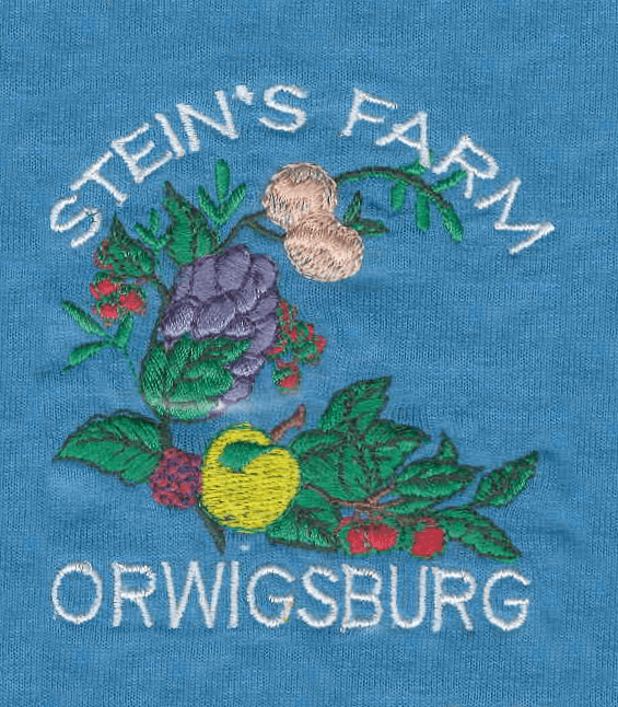 Stein's Farm Orwigsburg logo embroidered